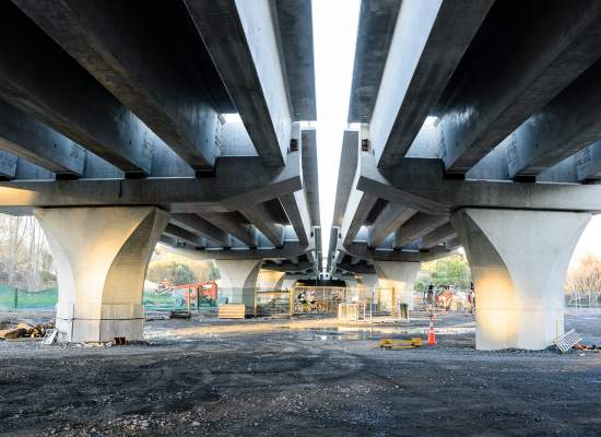 M2PP Waikanae bridge underneath