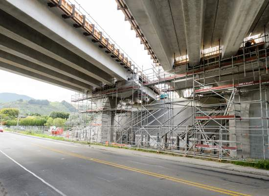 M2PP Raumati Road bridge underneath